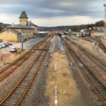 Panorama of the Sarreguemines Railway Station