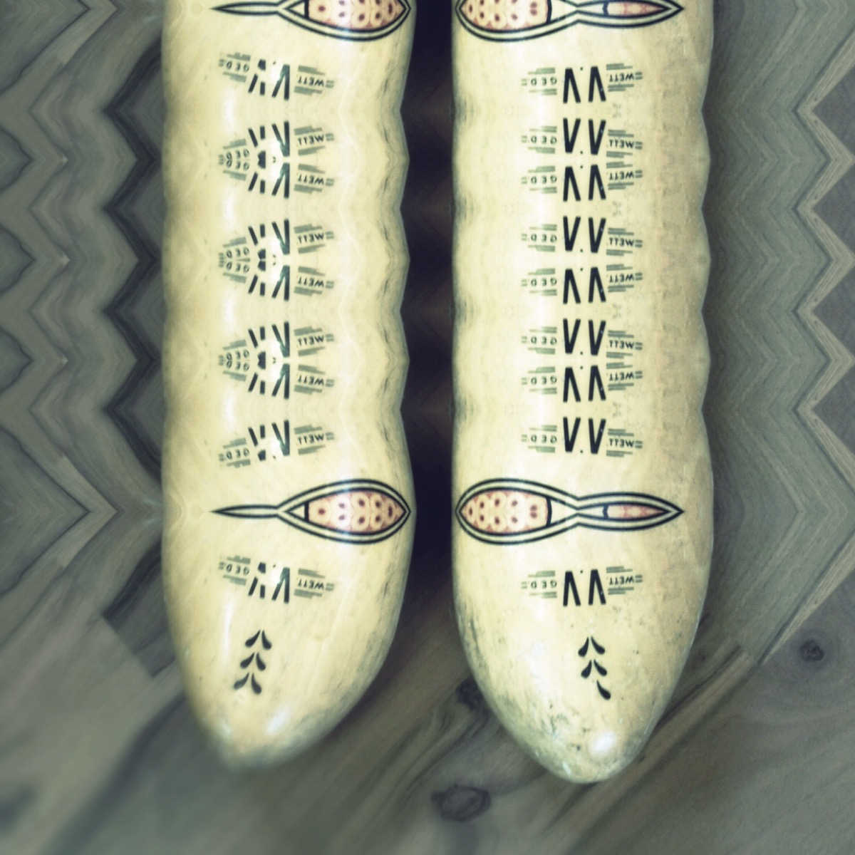 Dutch wooden shoes, cut and recombined with #Decim8