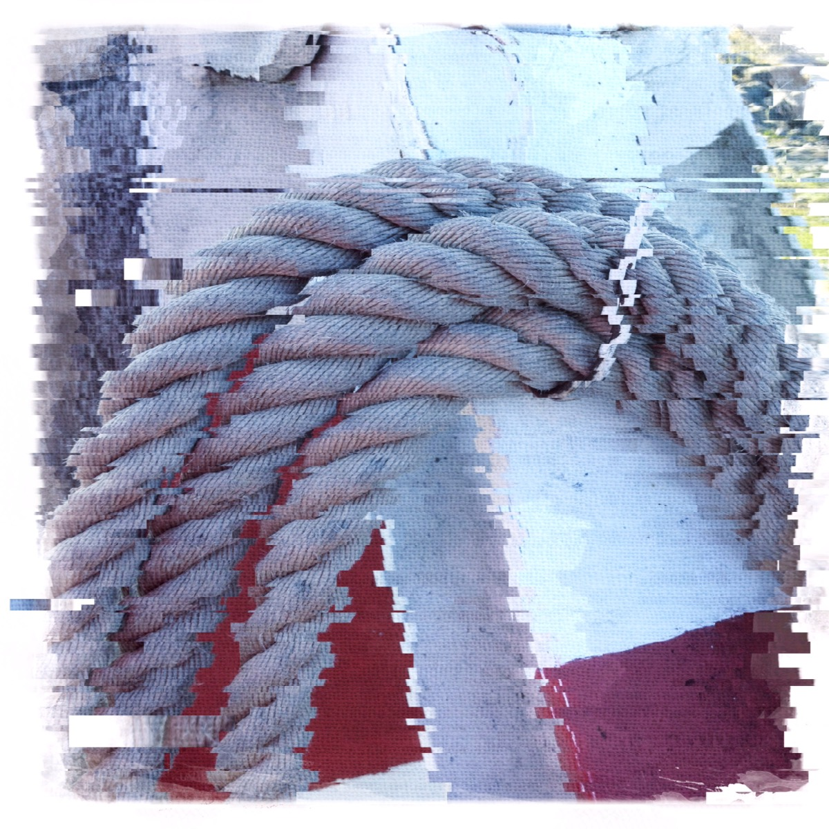 A rope at the Gothenburg ferry